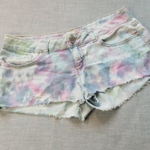 3/$12❤NB Tie Dye Denim Cutoff Shorts